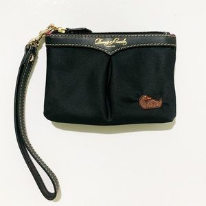 Dooney & Bourke Black Nylon Leather Small Wristlet